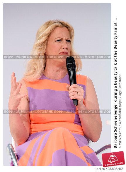 Купить «Barbara Schoeneberger during a beauty talk at the Beauty Fair at Duesseldorf Messe. Featuring: Barbara Schoeneberger Where: Duesseldorf, Germany When: 02 Apr 2017 Credit: WENN.com», фото № 28898466, снято 2 апреля 2017 г. (c) age Fotostock / Фотобанк Лори