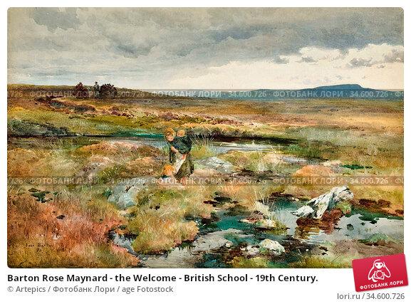 Barton Rose Maynard - the Welcome - British School - 19th Century. Стоковое фото, фотограф Artepics / age Fotostock / Фотобанк Лори