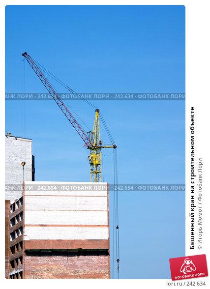 Купить «Башенный кран на строительном объекте», фото № 242634, снято 4 апреля 2008 г. (c) Игорь Момот / Фотобанк Лори