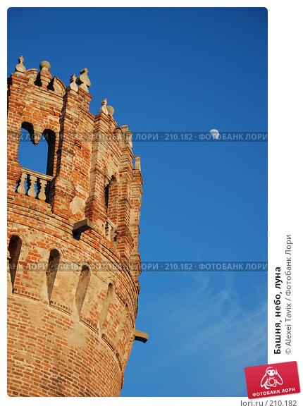 Башня, небо, луна, фото № 210182, снято 16 февраля 2008 г. (c) Alexei Tavix / Фотобанк Лори