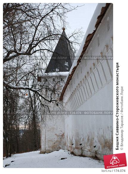 Башня Саввино-Сторожевского монастыря, фото № 174074, снято 21 ноября 2007 г. (c) Владимир Тарасов / Фотобанк Лори