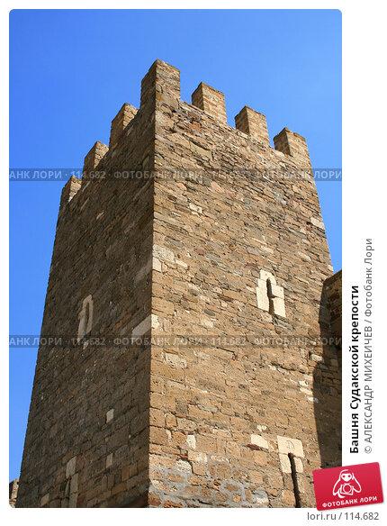 Башня Судакской крепости, фото № 114682, снято 22 августа 2007 г. (c) АЛЕКСАНДР МИХЕИЧЕВ / Фотобанк Лори