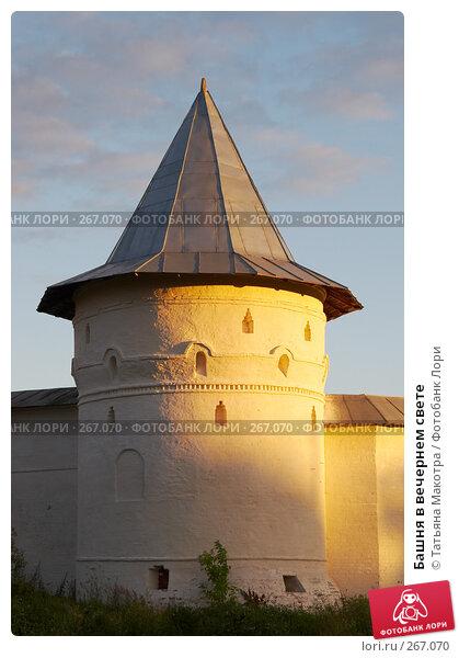 Башня в вечернем свете, фото № 267070, снято 10 июля 2007 г. (c) Татьяна Макотра / Фотобанк Лори