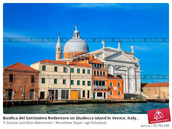 Basilica del Santissimo Redentore on Giudecca island in Venice, Italy... Стоковое фото, фотограф Zoonar.com/Don Mammoser / age Fotostock / Фотобанк Лори