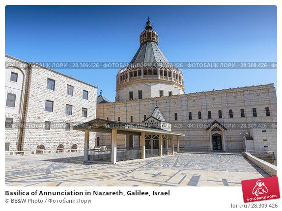Купить «Basilica of Annunciation in Nazareth, Galilee, Israel», фото № 28309426, снято 24 апреля 2018 г. (c) BE&W Photo / Фотобанк Лори