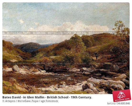 Bates David - in Glen Mallin - British School - 19th Century. Стоковое фото, фотограф Artepics / age Fotostock / Фотобанк Лори
