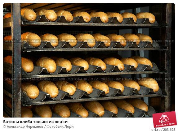 Батоны хлеба только из печки, фото № 203698, снято 2 февраля 2008 г. (c) Александр Черемнов / Фотобанк Лори