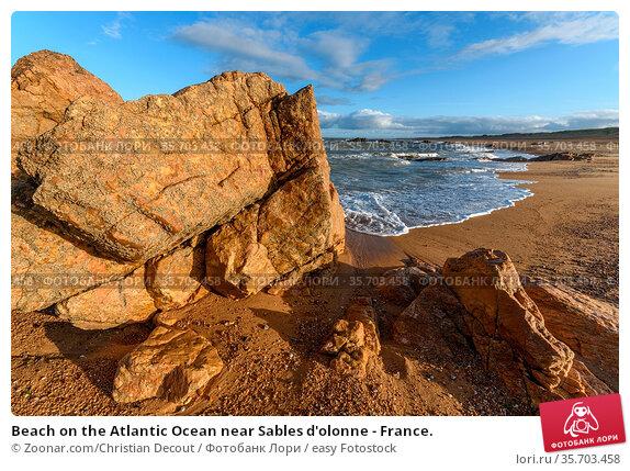 Beach on the Atlantic Ocean near Sables d'olonne - France. Стоковое фото, фотограф Zoonar.com/Christian Decout / easy Fotostock / Фотобанк Лори