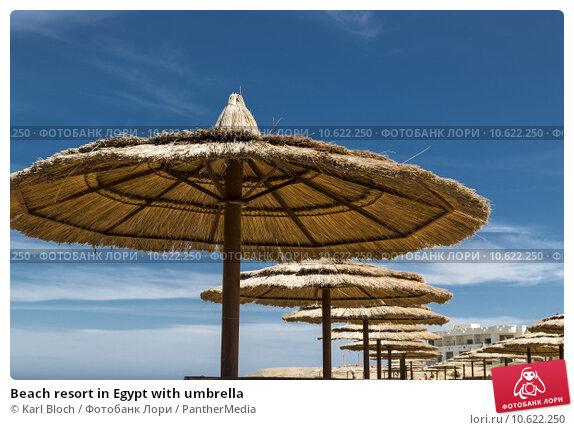 Beach resort in Egypt with umbrella. Стоковое фото, фотограф Karl Bloch / PantherMedia / Фотобанк Лори