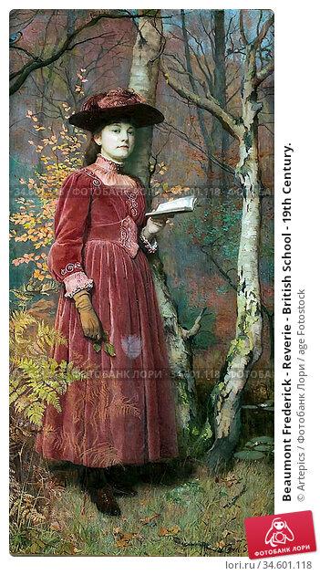Beaumont Frederick - Reverie - British School - 19th Century. Стоковое фото, фотограф Artepics / age Fotostock / Фотобанк Лори