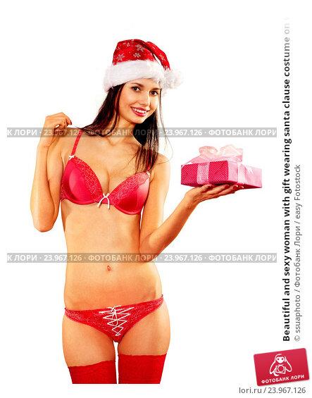 Девушка словно сексуальный подарок