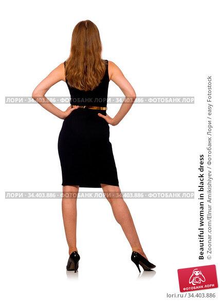 Beautiful woman in black dress. Стоковое фото, фотограф Zoonar.com/Elnur Amikishiyev / easy Fotostock / Фотобанк Лори