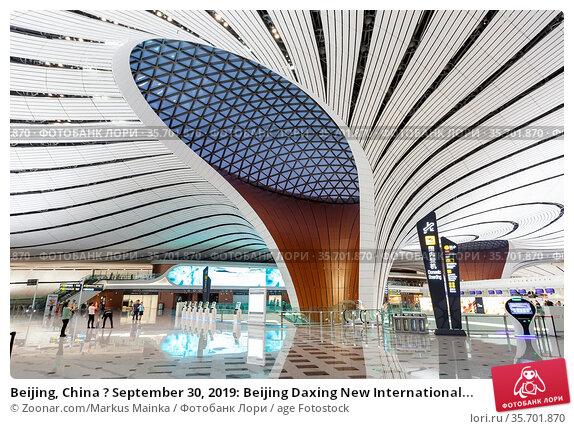 Beijing, China ? September 30, 2019: Beijing Daxing New International... Стоковое фото, фотограф Zoonar.com/Markus Mainka / age Fotostock / Фотобанк Лори