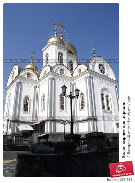 Купить «Белая кирпичная церковь», фото № 259538, снято 23 сентября 2007 г. (c) Валерий Шанин / Фотобанк Лори