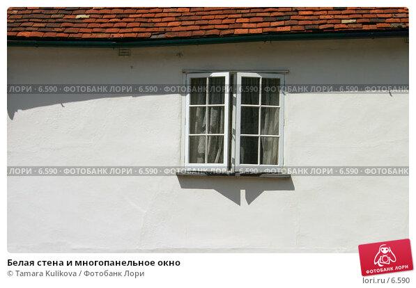 Белая стена и многопанельное окно, фото № 6590, снято 29 июля 2006 г. (c) Tamara Kulikova / Фотобанк Лори