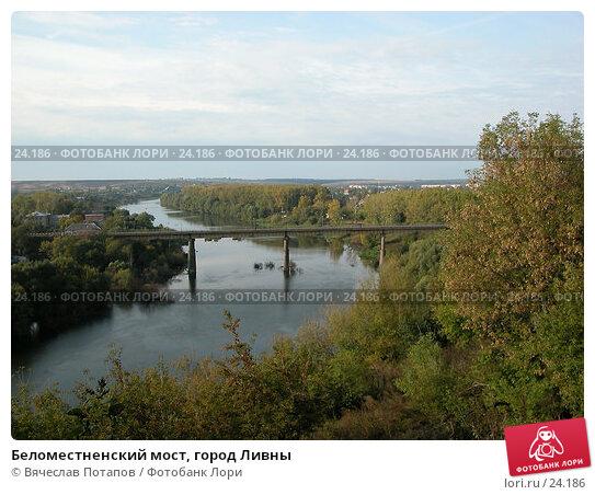 Беломестненский мост, город Ливны, фото № 24186, снято 21 сентября 2002 г. (c) Вячеслав Потапов / Фотобанк Лори