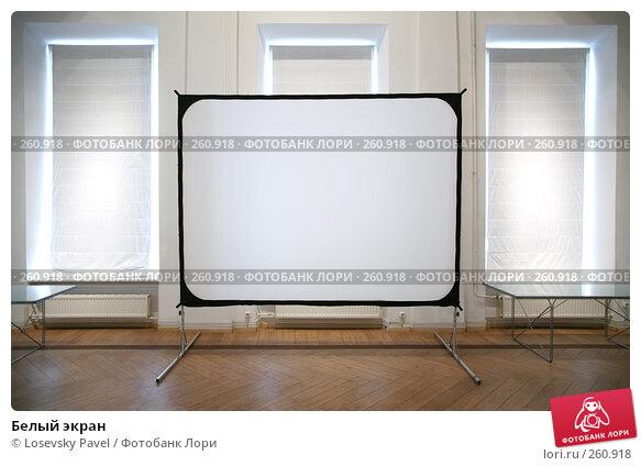 Белый экран, фото № 260918, снято 24 января 2017 г. (c) Losevsky Pavel / Фотобанк Лори