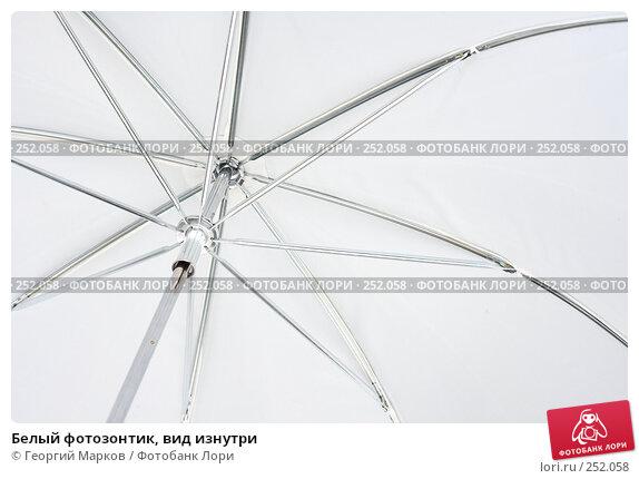Белый фотозонтик, вид изнутри, фото № 252058, снято 5 февраля 2008 г. (c) Георгий Марков / Фотобанк Лори