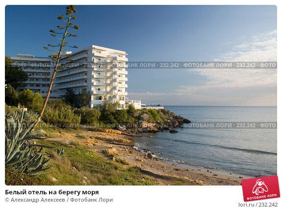 Белый отель на берегу моря, эксклюзивное фото № 232242, снято 23 сентября 2005 г. (c) Александр Алексеев / Фотобанк Лори