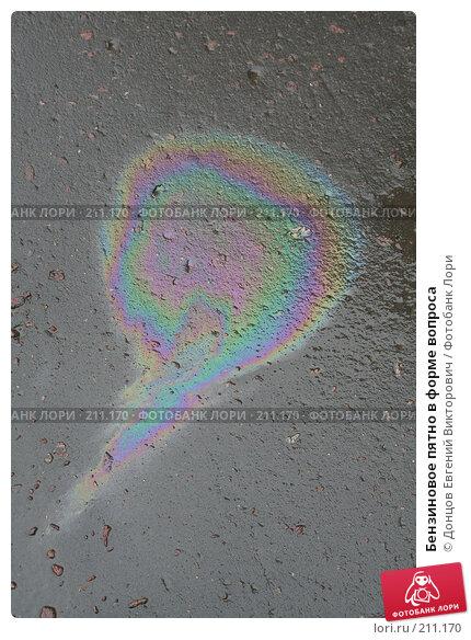 Бензиновое пятно в форме вопроса, фото № 211170, снято 1 сентября 2006 г. (c) Донцов Евгений Викторович / Фотобанк Лори
