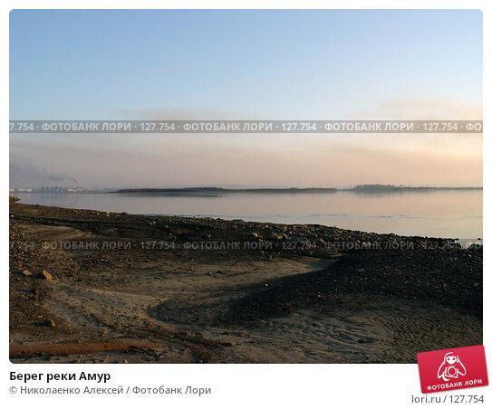 Берег реки Амур, фото № 127754, снято 24 января 2017 г. (c) Николаенко Алексей / Фотобанк Лори