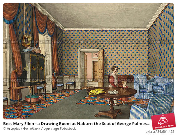 Best Mary Ellen - a Drawing Room at Naburn the Seat of George Palmes... Стоковое фото, фотограф Artepics / age Fotostock / Фотобанк Лори