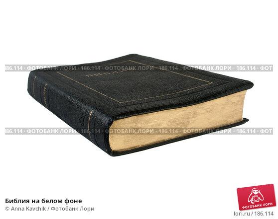 Купить «Библия на белом фоне», фото № 186114, снято 23 марта 2018 г. (c) Anna Kavchik / Фотобанк Лори