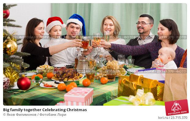 Купить «Big family together Celebrating Christmas», фото № 23715370, снято 14 января 2020 г. (c) Яков Филимонов / Фотобанк Лори