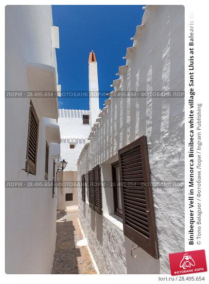 Купить «Binibequer Vell in Menorca Binibeca white village Sant Lluis at Balearic Islands», фото № 28495654, снято 28 мая 2013 г. (c) Ingram Publishing / Фотобанк Лори