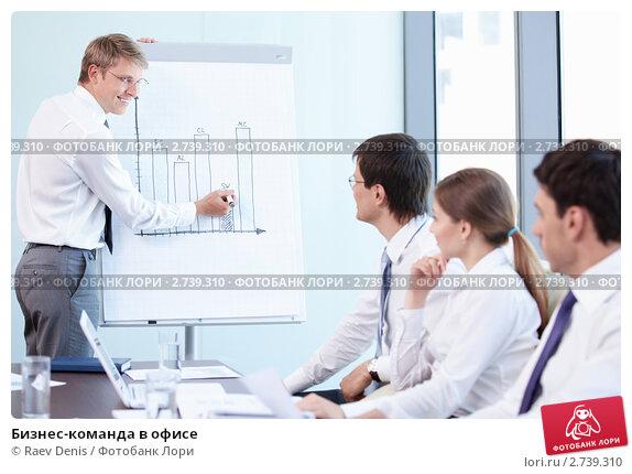 Купить «Бизнес-команда в офисе», фото № 2739310, снято 1 июня 2011 г. (c) Raev Denis / Фотобанк Лори