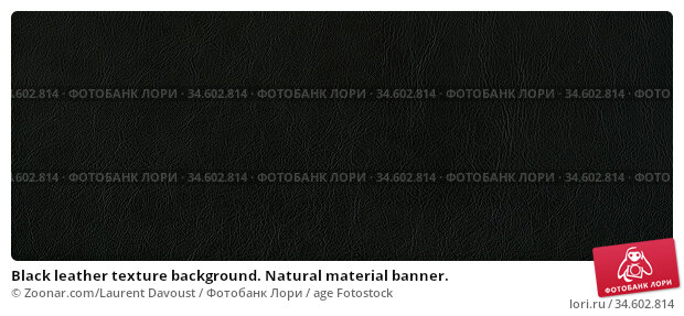 Black leather texture background. Natural material banner. Стоковое фото, фотограф Zoonar.com/Laurent Davoust / age Fotostock / Фотобанк Лори