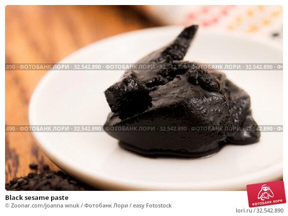 Купить «Black sesame paste», фото № 32542890, снято 9 декабря 2019 г. (c) easy Fotostock / Фотобанк Лори