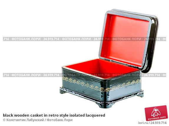 Купить «black wooden casket in retro style isolated lacquered», фото № 24919714, снято 6 апреля 2016 г. (c) Константин Лабунский / Фотобанк Лори