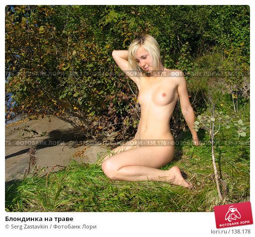 Блондинка на траве, фото № 138178, снято 18 сентября 2005 г. (c) Serg Zastavkin / Фотобанк Лори