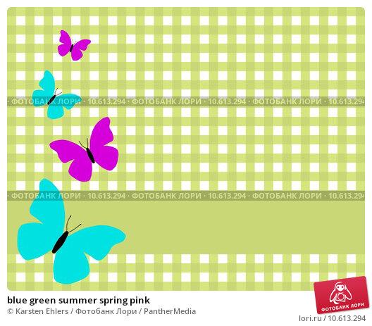 blue green summer spring pink. Стоковое фото, фотограф Karsten Ehlers / PantherMedia / Фотобанк Лори