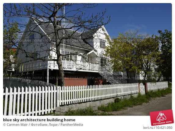 blue sky architecture building home. Стоковое фото, фотограф Carmen Mair / PantherMedia / Фотобанк Лори