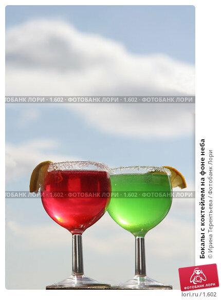 Купить «Бокалы с коктейлем на фоне неба», фото № 1602, снято 26 марта 2006 г. (c) Ирина Терентьева / Фотобанк Лори