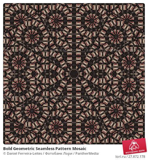 Купить «Bold Geometric Seamless Pattern Mosaic», фото № 27872178, снято 20 октября 2018 г. (c) PantherMedia / Фотобанк Лори