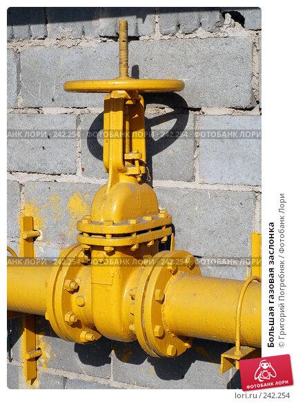 Большая газовая заслонка, фото № 242254, снято 24 октября 2016 г. (c) Григорий Погребняк / Фотобанк Лори