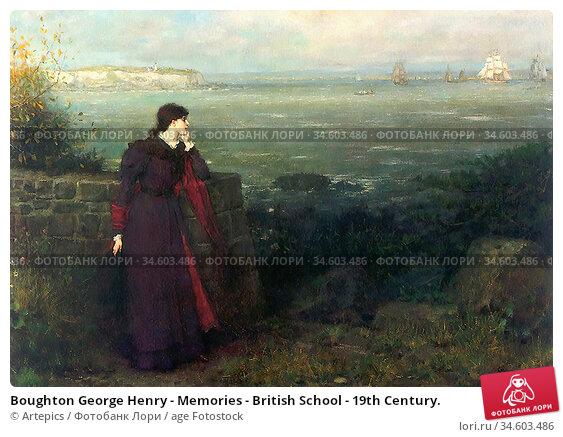 Boughton George Henry - Memories - British School - 19th Century. Стоковое фото, фотограф Artepics / age Fotostock / Фотобанк Лори