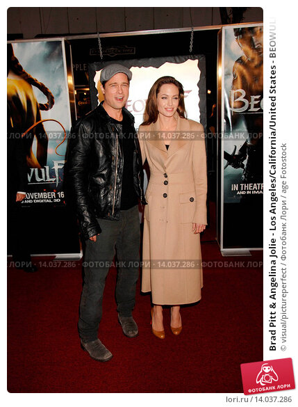 Купить «Brad Pitt & Angelina Jolie - Los Angeles/California/United States - BEOWULF FILM PREMIERE», фото № 14037286, снято 5 ноября 2007 г. (c) age Fotostock / Фотобанк Лори