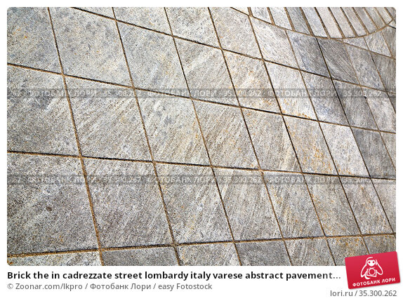 Brick the in cadrezzate street lombardy italy varese abstract pavement... Стоковое фото, фотограф Zoonar.com/lkpro / easy Fotostock / Фотобанк Лори
