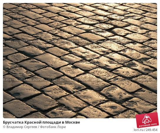 Брусчатка Красной площади в Москве, фото № 249454, снято 11 апреля 2008 г. (c) Владимир Сергеев / Фотобанк Лори