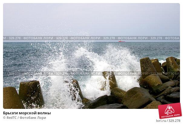 Брызги морской волны, фото № 329278, снято 19 июня 2008 г. (c) RedTC / Фотобанк Лори