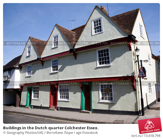 Buildings in the Dutch quarter Colchester Essex. age Fotostock / Фотобанк Л