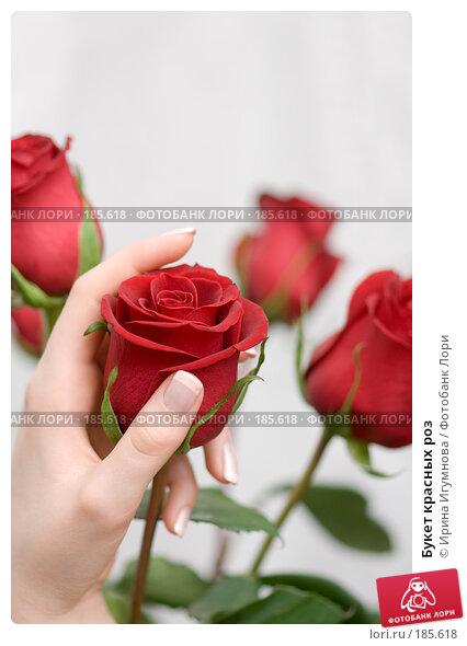 Букет красных роз, фото № 185618, снято 3 января 2008 г. (c) Ирина Игумнова / Фотобанк Лори