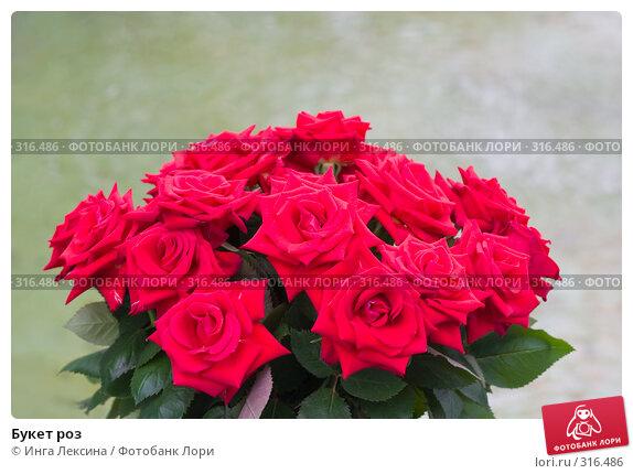 Букет роз, фото № 316486, снято 18 августа 2017 г. (c) Инга Лексина / Фотобанк Лори
