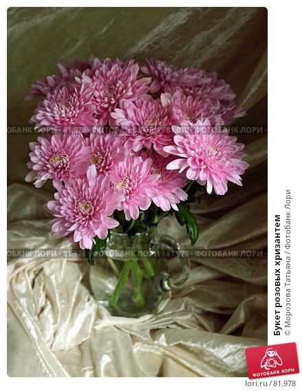 Купить «Букет розовых хризантем», фото № 81978, снято 17 августа 2007 г. (c) Морозова Татьяна / Фотобанк Лори