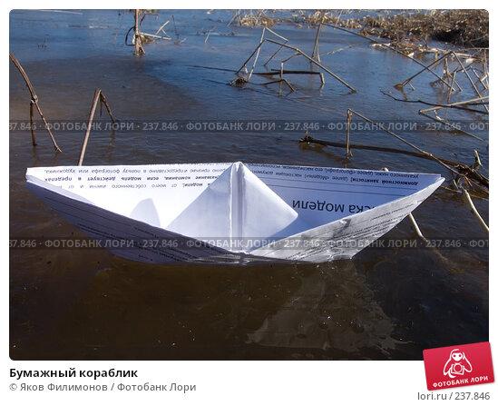Бумажный кораблик, фото № 237846, снято 24 января 2017 г. (c) Яков Филимонов / Фотобанк Лори