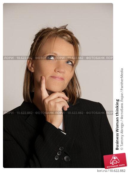 Business Woman thinking. Стоковое фото, фотограф Tammy Abrego / PantherMedia / Фотобанк Лори